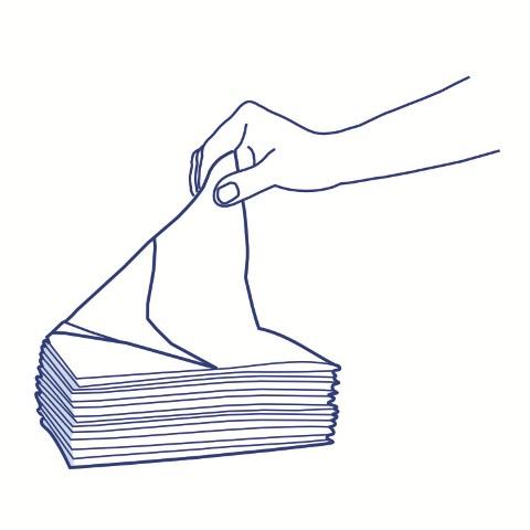 2 tissue wipes - air-laid OK