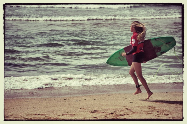 Female Surfers Compete At The Boardmasters In Newquay